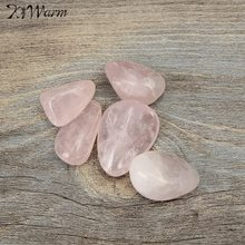 Kiwarm 5pcs Natural Rose Pink Quartz Crystal Point Healing Stones Gemstones Craft Stone Rock for Home Decor Ornament Gift