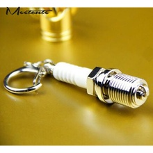 Meetcute New Design Novelty Car Auto Parts Key Rings Alloy Spark Plug Keychain Unique Key Jewelry Key Chain Trinkets