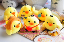 CUTE Lovely 1Piece Random Little 6CM Chicken Duck Plush , Gift Stuffed Toy key Chain Pendant Toy , Bouquet Plush Decor Toys