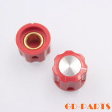 "1/4"" shaft hole 16*12mm red ABS plastic pointer knob for guitar AMP effect pedal stomp box vintage radio DJ mixer lot*10"