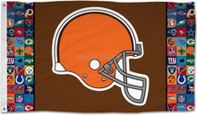 Cleveland Browns Football Team Logo Sports Flag Banner Indoor Outdoor 3'x5'
