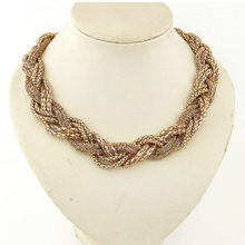 High Quality Products Wholesale Bohemian Twist Knit Necklace Necklace Collar Women Statement Necklaces