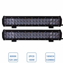 18'' 180W Combo Offroad LED Light Bar Driving 12V 24V Car Auto SUV Boat ATV Camper Tractor Trailer 4X4 Truck 4WD Headlight Lamp