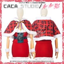 Anime Love Live Nozomi Tojo Eli Ayase Sonoda Umi Minami Kotori Rin  Hoshizora Christmas Cosplay Costume 44821eab5412