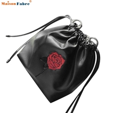 Women Fashion Roses Handbag PU Leather  Drawstring Shoulder Bag Tote Ladies Purse  Comfystyle