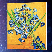 50x65cm Narcissus purple flower Painting By Numbers Hand Painted Canvas Oil Paintings with Wall pictures For Living Room r394(China)