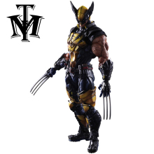 Anime Movie X-Men Wolverine Logan Action Figure Playarts Kai figurine hot kids Toy Collection Model Play arts 26cm brinquedos(China)