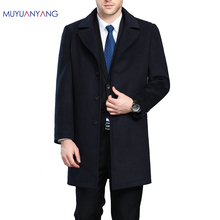 Plus Size Winter Mens Long Coats 3XL 4XL Men's Woolen Jackets Cashmere Coat Business Casual Wool & Blends Jacket Overcoat(China)