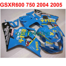 Blue+sticker gsxr 600 Fairing kit For Suzuki 750 2004 2005 04 05 ( 100%New) High quality fairings free EMS m30