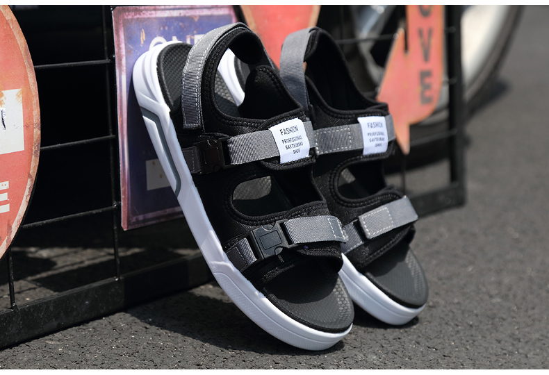YRRFUOT Summer Big Size Fashion Men's Sandals Outdoor Hot Sale Trend Man Beach Shoes High Quality Non-slip Adult Flats Shoes 46 40 Online shopping Bangladesh