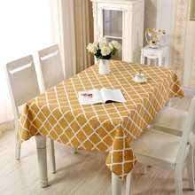 Nordic Style Geometric Decorative Home Party Tablecloth Rectangle Linen Cotton Table Covers Dinner Office Tables Clothes