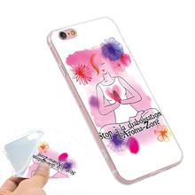 YOGA WOMENS HEALTH Clear Soft TPU Slim Silicone Phone Case Cover for iPhone 4 4S 5C 5 SE 5S 7 6 6S Plus 4.7 5.5 inch