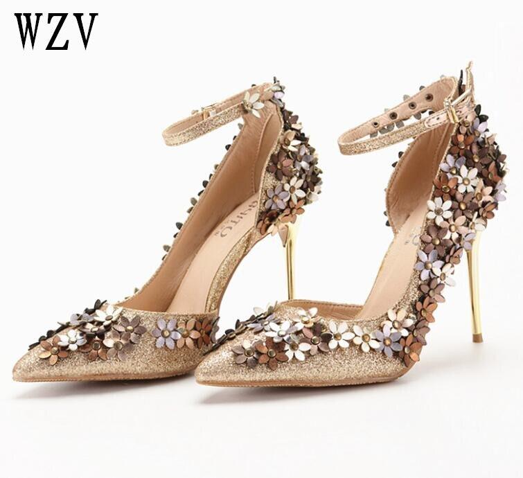 Women Pumps Bling High Heel Shoes Glitter Extrem Heels Sexy Woman Wedding Gold  Ladies B532 - 89c0ab82ca36