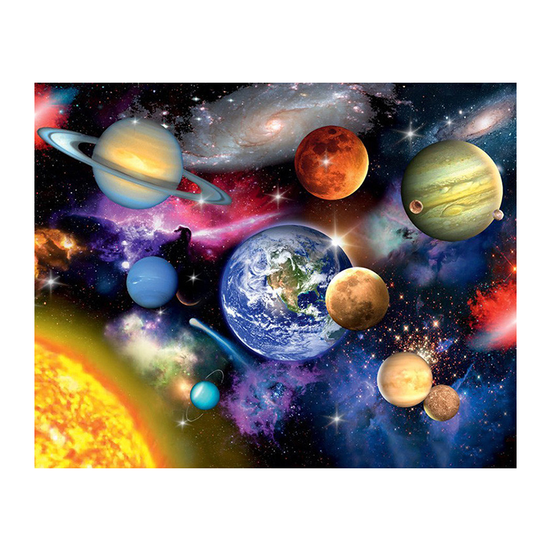 Full Square Round Drill 5D DIY Diamond Painting Space planet 3D Embroidery Cross Stitch Mosaic Home Decor