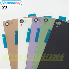 Vecmnoday For Sony Xperia Z3 L55T D6603 D6643 D6653 D6633 Back Glass Battery Door Housing Rear Back Cover Replacement Spare Part
