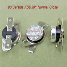 10pcs/lot KSD301 Thermostat Normally Normal Close 90 Degrees Celsius Thermostat Switches NC Temperature Switch(China)