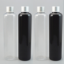 Capacity 24pcs/lot 330ml Fashion Portable Transparent/black Perfume Bottle With PET Empty Cosmetic Case For Travel