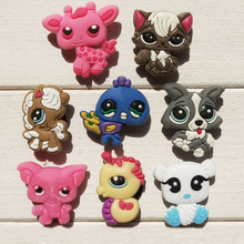 Hot Novelty 8PCS Pet Shop PVC Shoe Charms Accessories Lovely Cartoon Shoe Buckle fit Bracelets Bands Croc Clog JIBZ Party Gifts(China)