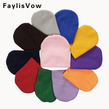 Baby Cotton Knitted Hats Infant Boys Girls Soft Solid Beanies Toddlers Caps Fashion Newborn Photography Props Accessories