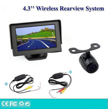 Vehicle Car wireless car rear view camera with 4.3 inch monitor Assistance,Wireless auto reversing parking security kits system