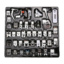 42 PCS Domestic Sewing Foot Set for Singer, Brother, Janome,Kenmore, Elna,.Toyota,Etc,New Home,Low Shank Sewing Machines 7YJ30
