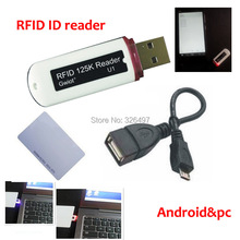 125khz RFID 10 digit Dec mini ID card reader support Linux Android Mac OS operate system provide free sample card(China)
