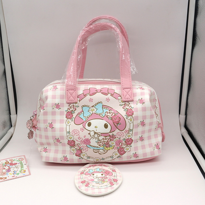 2017 news my melody Genuine make up bag high quality pu cute cosmetic bag Open with the zipper women bag <br>