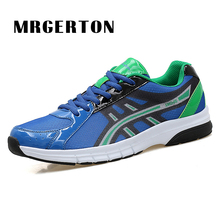 Men Running Shoes Summer/Spring Male Athletic Outdoor Sneakers Blue/Orange/Green Breathable Sport Shoes M33115(China)
