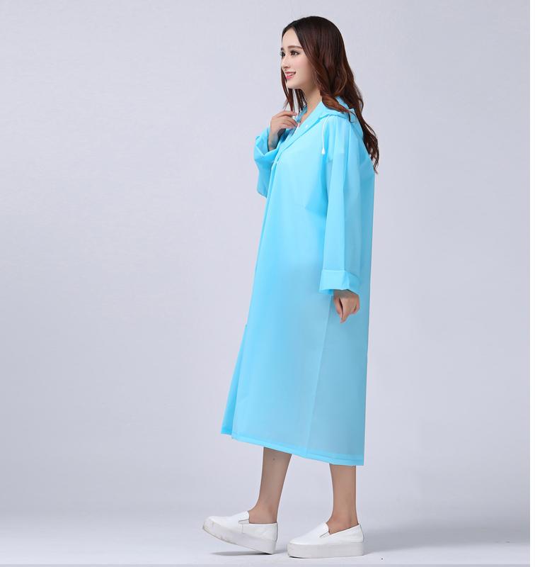 Women Transparent Portable Long Raincoats 15