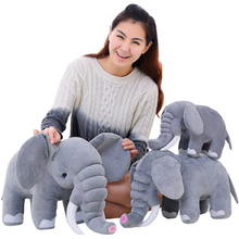 Giant Elephant Stuffed Animal Plush Kids Birthday Gifts For Girls Peluche Gray Elephant Plush Pillow Toy For Kids 70C0145(China)