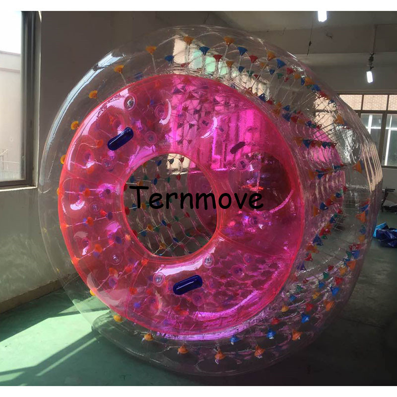 Inflatable Water Roller Wheel Free Shipping Clear Color Inflatable Roller Ball On Water Ball Infaltable Water Roll For Kids (2)
