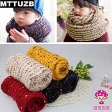 MTTUZB Autumn winter children thick warm scarf kid's knitted wool scarves boys girls accessories Free shipping