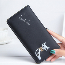 Women Wallets Lady Purses Long Handbag Brand Design Cat Moneybags Girls Wallet Photo Cards ID Holder Burse Bags Note Compartment
