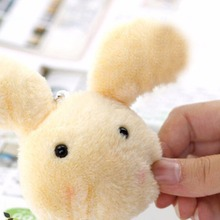 Soft Cute Push Rabbit Animal Fur Doll Plush Toy 7CM Stuffed Toys Kids Birthday Gift Doll Keychain Small Pendant Rnadom Color