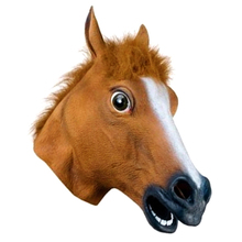 Creative Brown Color Full Face Halloween Horse Mask Horse Head Christamas Easter Party Masks Decoration Tool