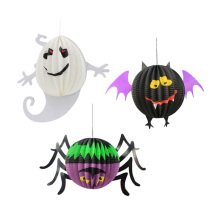 Halloween Decoration Hanging Spider Bat Ghost Lanterns Halloween Paper Ornaments Decor Props Party Scene Cosplay Supplies #727