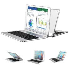 "Hot sale Bluetooth Keyboard For iPad pro 9.7"" Aluminum Alloy Stand Case Cover 160 Degree Rotate Well Protection Cover KeyBoard"