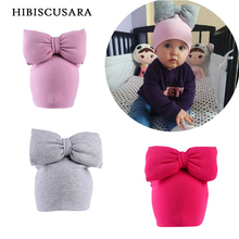 Winter Baby Hat 3D Big Bowknot Infant Girl Cotton Hat Novelty Bebe Caps Bonnet Children New Autumn Soft Beanie With Bow(China)