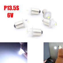 Dongzhen 10pcs P13.5S PR2 6V White Led Light Bulbs High Brightness Flashlight Replacement Bulb Work Light Lamp Auto Car Styling