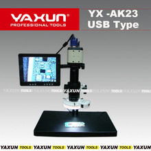 "YAXUN AK-23 USB type digital microscope with 8"" LCD monitor,2 mega pixel CCD camera,USB+VGA+AV output,video record fuction"