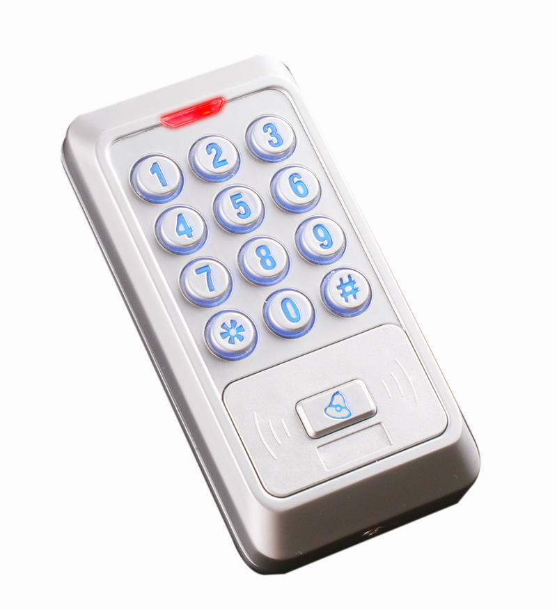 Free ship,13.56M, Metal Keypad IC reader,waterproof and anti-hit, wiegand34 10-digit , suit for outdoor Access sn:KR01,min:1pcs<br>