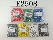 100pcs E2508 2.5mm2 INSULATED BOOTLACE FERRULE TERMINALS (Blue FOR 2.5mm2 cable) Connector Cord Pin End Crimp Terminal