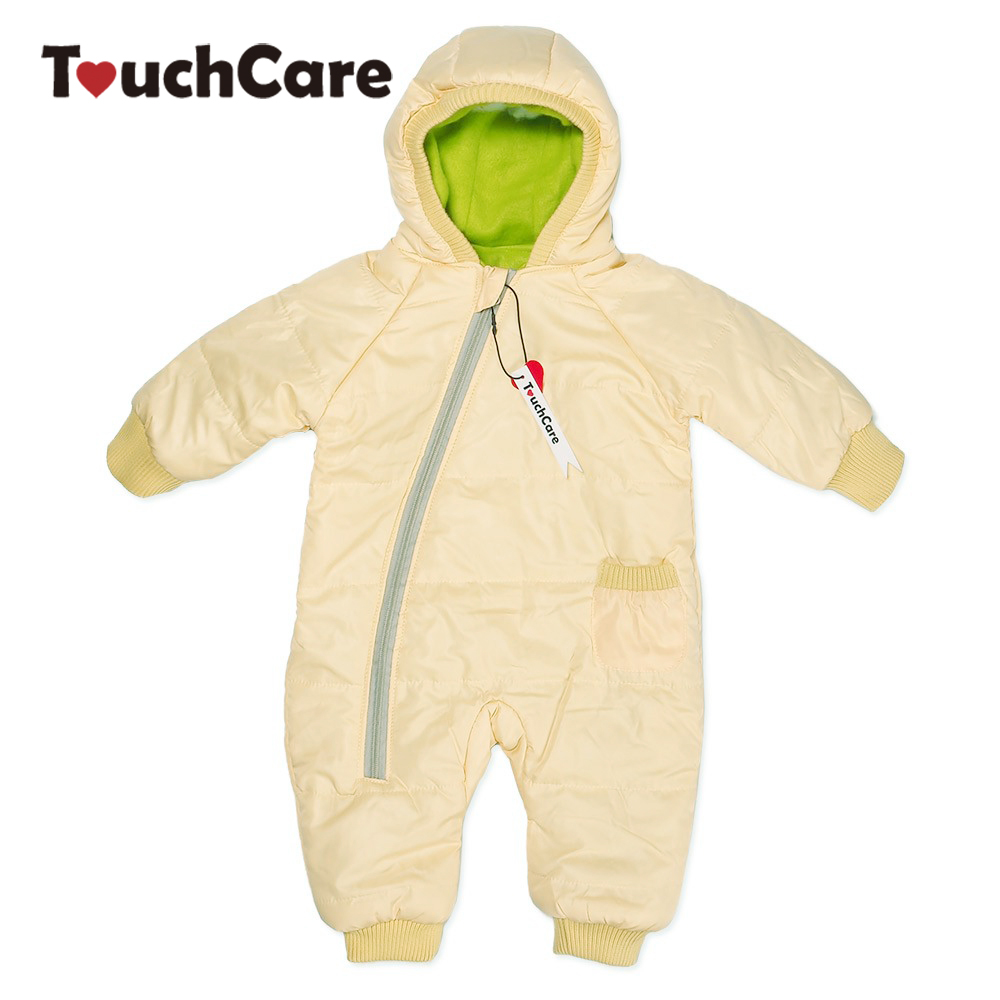 Winter Warm Cotton Thick Baby Boy Girl Romper Newborn Cute Candy Color Soft Long Sleeve Hooded Snow Jacket Parkas Jumpsuit