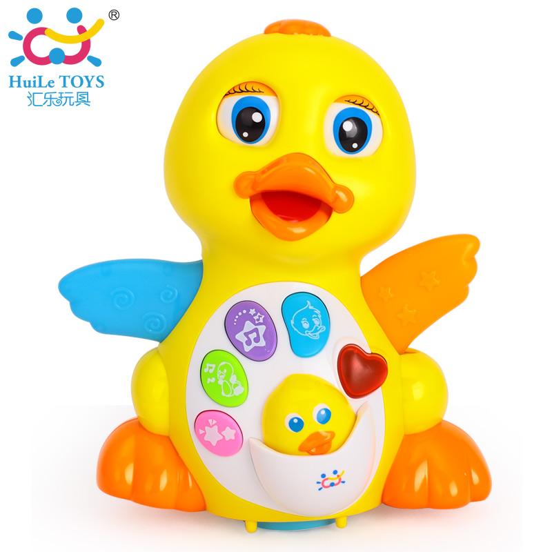 New Huile Toys 808 Dancing Duck Battery Operated Toy Figure Action Toy With Flashing Lights Electric Universal Musical Baby Toys<br><br>Aliexpress