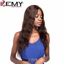 "KEMY HAIR FASHION 25"" 171g 100% Brazilian Remy Long Texture Human Hair Wigs Natural Wave Middle U Part Lace Wigs For Women(China)"