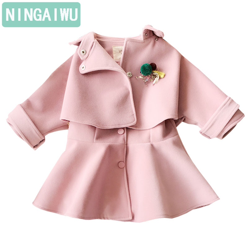 2 - 10 years childrens clothes girls winter suit  new 2017 western style fashionable baby girls coats fashion twinset kids sets<br>