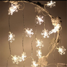 3M 20 LED Christmas Tree Snowflake String Fairy Lights New Year's Products natal Snow Lights For Christmas Tree Decorations(China)