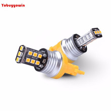 800 Lumens Extremely Bright 2835 Chipsets 3056 3156 3057 3157 4157 LED Bulbs for Turn Signal Blinker Light, Amber Yellow