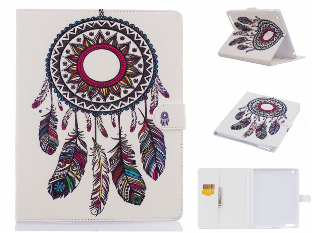 New Arrival Luxury Cute birds butterfly Cat tree feather PU Leather Flip Case for Apple  iPad 4 3 2 Case Stand Cover Case<br><br>Aliexpress