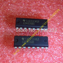 Free shipping 100pcs/lot CD4026BE CD4026 4026 IC COUNTER/DIVIDR DECADE 16-DIP Best quality